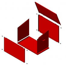 Ящик ЯП-0,1 для песка разборной