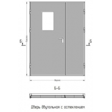дверь противопожарная двупольная дпм 02 60, двери противопожарные металлические двупольные цена
