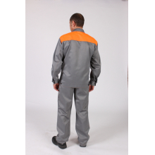 костюм рабочий ткань смесовая, костюмы рабочие оптом, оранжевый костюм рабочего, костюм смесовой ткани, куртка смесовая ткань,