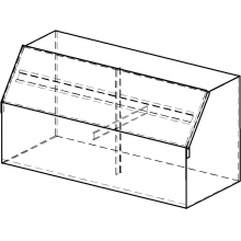 Ящик для песка пожарный ЯП-0,5-02 с дозатором