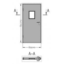 Дверь противопожарная однопольная EI-60 со стеклом