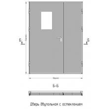 Дверь противопожарная двупольная S-60 металлическая