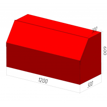 Ящик для песка пожарный ЯП-0,3-0,2 без дозатора