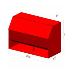 Ящик для песка пожарный ЯП-0,5-01 с дозатором