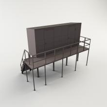 Хранилище для кислородных баллонов на подставке
