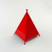 Пирамида для гидранта 500х500х600